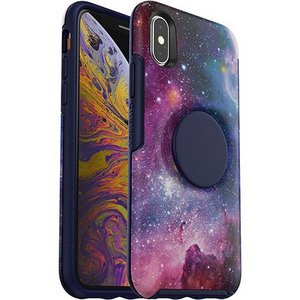OtterBox Otter + Pop SYMMETRY Case with PopSockets Swappable PopGrip for Apple iPhone XS Max - Blue Nebula