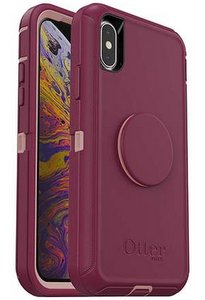 OtterBox Otter + Pop DEFENDER Case with PopSockets Swappable PopGrip for Apple iPhone XS Max - Fall Blossom