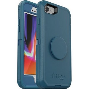 OtterBox Otter + Pop SYMMETRY Case with PopSockets Swappable PopGrip for Apple 8/7 - Go To Blue