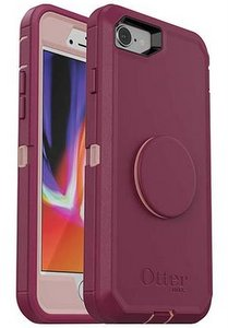 OtterBox Otter + Pop DEFENDER Case with PopSockets Swappable PopGrip for Apple 8/7 - Fall Blossom