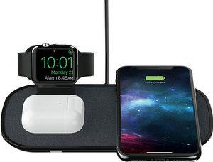 mophie - 3-in-1 Wireless Charging Pad with Apple Watch Dock 7.5W - Black