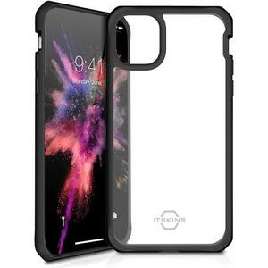ITSKINS - Hybrid Solid Case for Apple iPhone 11 Pro Max - Black and Transparent
