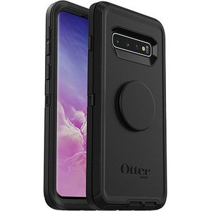 OtterBox - Otter + Pop Defender Case with PopSockets Swappable PopGrip for Samsung Galaxy S10 Plus - Black