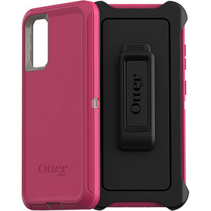 OtterBox - Defender Case w/Belt Clip for Samsung Galaxy S20 Plus - Lovebug Pink