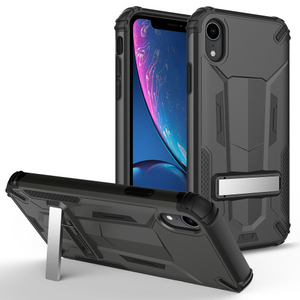 ZIZO TRANSFORM Series iPhone XR Case - Built-In Kickstand and UV Coated PC/TPU Layers Black