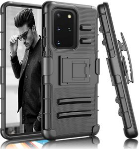 Premium FITTED Duo Armor Combo Case w/Stand and Belt Clip for Galaxy A11 (BLACK)