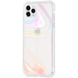 Case-Mate - Soap Bubble Case with MicroPel for Apple iPhone 12 / 12 Pro - Iridescent