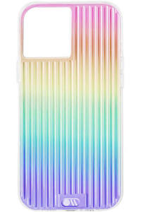 Case-Mate - Tough Groove Case with MicroPel for Apple iPhone 12 / 12 Pro - Iridescent