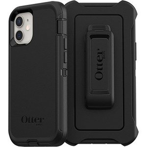 OtterBox DEFENDER Rugged Screenless Edition Case w/Belt Clip for Apple iPhone 12 Mini - Black