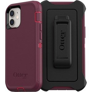 OtterBox DEFENDER Rugged Screenless Edition Case w/Belt Clip for Apple iPhone 12 Mini - Berry Potion