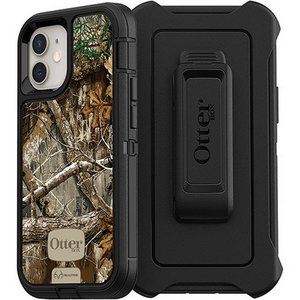 OtterBox DEFENDER Rugged Screenless Edition Case w/Belt Clip for Apple iPhone 12 Mini - Realtree Edge Black