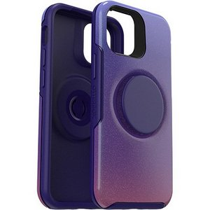 OtterBox Otter + Pop SYMMETRY Case with PopSockets PopGrip for Apple iPhone 12 Mini - Violet Dusk