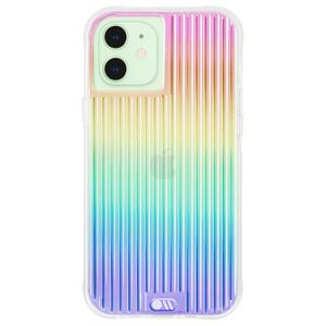 Case-Mate - Tough Groove Case with MicroPel for Apple iPhone 12 Mini - Iridescent