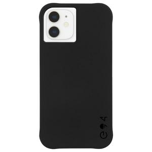 Case-Mate - eco94 Eco-Clear Case with MicroPel for Apple iPhone 12 Mini - Black