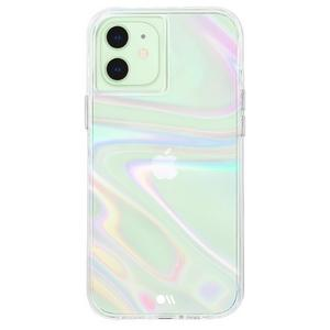 Case-Mate - Soap Bubble Case with MicroPel for Apple iPhone 12 Mini - Iridescent