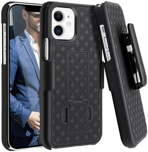 Premium FITTED COMBO CASE Holster & Protective Shell w/Kickstand & Belt Clip (iPhone 12 Mini)