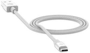 mophie - Charging/Sync USB-C to Apple 8-Pin Lightning (3-Foot) Cable - White