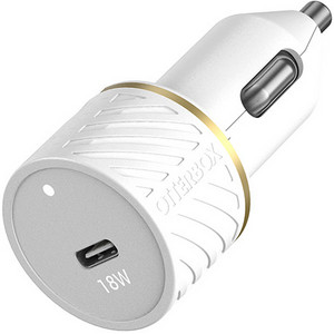 OtterBox Premium Fast Charge USB-C Single Port Car Charger 18W - Cloud Dust