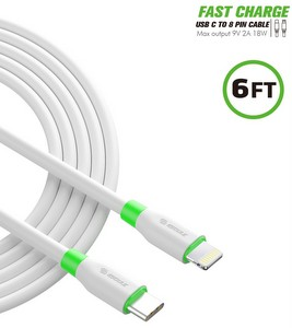 Premium Charge/Sync USB-C to Lightning (8-pin) (6-Foot) Fast Charging Cable - White