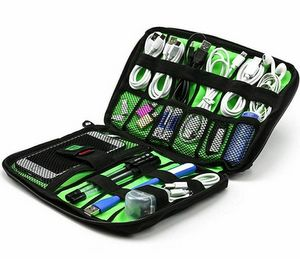 Premium Electronic Medium Travel Organizer for Phone & Accessories (Black)