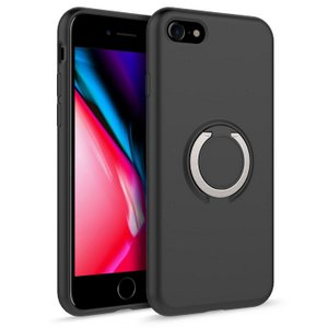 Zizo Revolve Case w/Built In 360° Ring Holder KickStand & Magnetic Mount for iPhone SE /7 / 8 (Black)