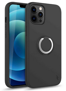 Zizo Revolve Case w/Built In 360° Ring Holder KickStand & Magnetic Mount for iPhone 12 / 12 Pro (Black)