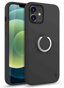 Zizo Revolve Case w/Built In 360° Ring Holder KickStand & Magnetic Mount for iPhone 12 Mini (Black)