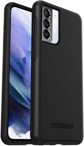 OtterBox - Symmetry Antimicrobial Case for Samsung Galaxy S21 5G - Black
