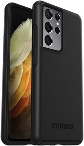 OtterBox - Symmetry Antimicrobial Case for Samsung Galaxy S21 Ultra 5G - Black