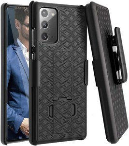 Premium FITTED COMBO CASE Holster & Protective Shell w/Kickstand & Belt Clip (Galaxy Note 20)