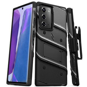 ZIZO BOLT Series Galaxy Note 20 Case w/ Holster (No Screen Protector) Black