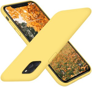 DTTO Full Covered Silicone Case w/Honeycomb Grid Cushion for iPhone 11 Pro (Yellow)