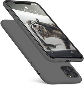 DTTO Full Covered Silicone Case w/Honeycomb Grid Cushion for iPhone 11 ProMax (Gray)