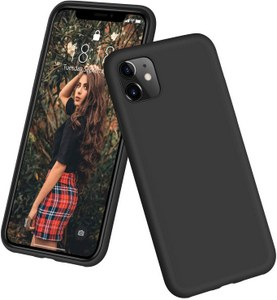 DTTO Full Covered Silicone Case w/Honeycomb Grid Cushion for iPhone 11 (Black)