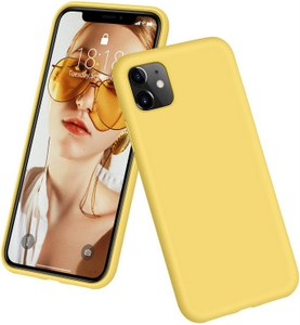 DTTO Full Covered Silicone Case w/Honeycomb Grid Cushion for iPhone 11 (Yellow)