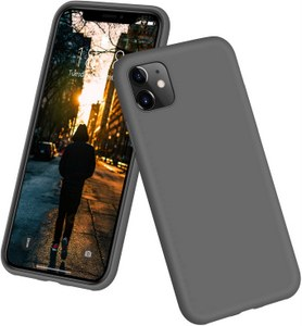DTTO Full Covered Silicone Case w/Honeycomb Grid Cushion for iPhone 11 (Gray)