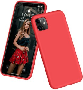 DTTO Full Covered Silicone Case w/Honeycomb Grid Cushion for iPhone 11 (Red)