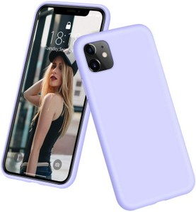 DTTO Full Covered Silicone Case w/Honeycomb Grid Cushion for iPhone 11 (Purple)