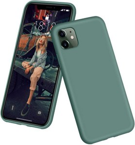 DTTO Full Covered Silicone Case w/Honeycomb Grid Cushion for iPhone 11 (Midnight Green)