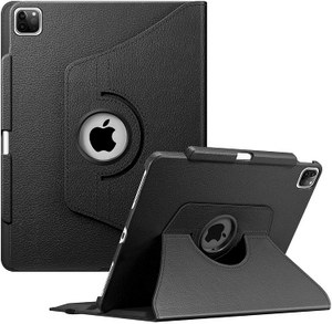 Premium Rotating Case for iPad Pro 12.9-inch - 360 Degree Swiveling Protective Cover (Black)