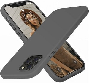 DTTO Full Covered Silicone Case w/Honeycomb Grid Cushion for iPhone 12 / 12 Pro (GREY)