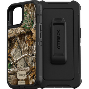 Otterbox DEFENDER Screenless Case w/Belt Clip for iPhone 13 - Realtree Edge Black