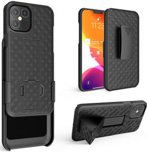 Premium FITTED COMBO CASE Holster & Protective Shell w/Kickstand & Belt Clip (iPhone 13 Mini)